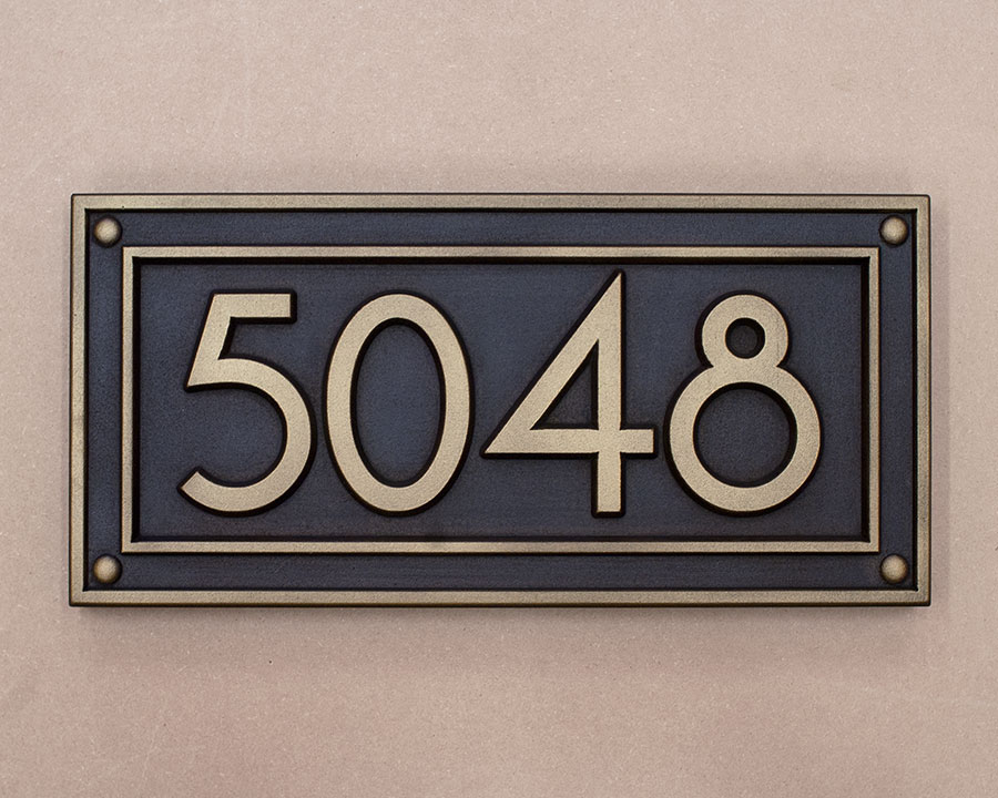 Craftsman House Number Signs