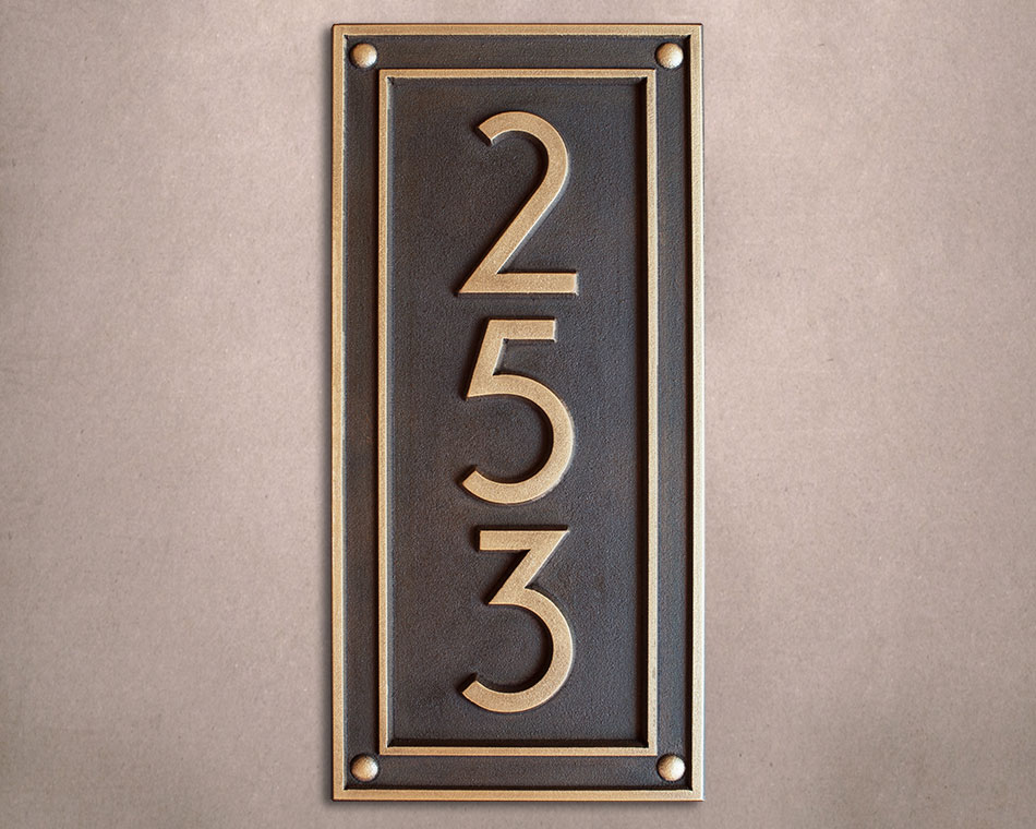 b2e7fa1c3a15a Address Plaques : JDRS Craftsman